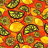 Sömlös modell av den gula citronen Arkivfoto