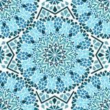 Sömlös modell av den marockanska mosaiken stock illustrationer