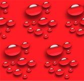 Sömlös modell av droppar 3D vektor illustrationer