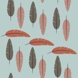 Sömlös modell av enkla fjädrar royaltyfri illustrationer