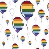 Sömlös modell av färgrika ballonger Vektor Illustrationer