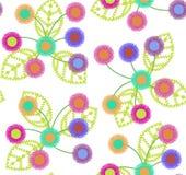 Sömlös modell av färgrika blommor Arkivfoton