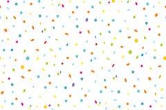 Sömlös modell av färgrika konfettier vektor illustrationer