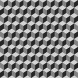 Sömlös modell av gråa kuber royaltyfri illustrationer