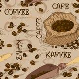 Sömlös modell av kaffe Royaltyfri Bild