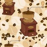 Sömlös modell av kaffekvarnen Royaltyfri Fotografi