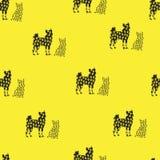 Sömlös modell av katterna och hundkapplöpningen Royaltyfria Bilder