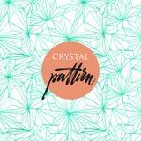 Sömlös modell av kristaller royaltyfri illustrationer