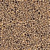 Sömlös modell av leopardhud stock illustrationer