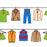 Sömlös modell av mäns kläder Arkivfoton