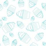 Sömlös modell av muffin Arkivbilder
