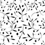 Sömlös modell av olivgröna filialer också vektor för coreldrawillustration royaltyfri illustrationer