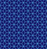 Sömlös modell av sexhörnigt förtjäna för neon Lysande partiklar futuristic textur Geometriskt modernt, teknologivektor royaltyfri illustrationer