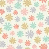 Sömlös modell av stiliserade blommor i en kastad pastellfärgad färgad repetition En skandinavisk inspirerad design för nätt vekto vektor illustrationer