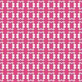 Sömlös modell av stjärnor och geometriska former i vit-, brue- och bruntgulingfärger på mörk rosa magentafärgad bakgrund royaltyfri illustrationer