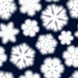Sömlös modell av stora oskarpa snöflingor Arkivbilder