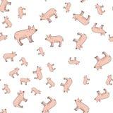 Sömlös modell av svin vektor illustrationer