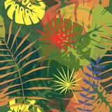 Sömlös modell av tropiska sidor 2 Arkivbilder