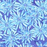 Sömlös modell av vinter fryste blåttblommor royaltyfri illustrationer