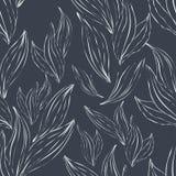 Sömlös modell av vita översiktssidor på en mörk bakgrund royaltyfri illustrationer
