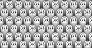 Sömlös modell 3d av vita emailsymboler Royaltyfri Bild