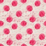 Sömlös modell för åldriga rosor royaltyfri illustrationer