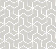 Sömlös modell för abstrakt enkel geometrisk vektor med den vita linjen textur på grå bakgrund Ljust - grått modernt vektor illustrationer