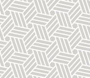 Sömlös modell för abstrakt enkel geometrisk vektor med den vita linjen textur på grå bakgrund Ljust - grått modernt royaltyfri illustrationer