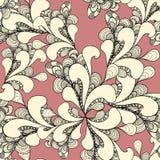Sömlös modell för abstrakt klotter på rosa färger Royaltyfri Bild