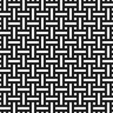 Sömlös modell för abstrakt monokrom väv i asiatisk stil Arkivbild