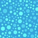 Sömlös modell för abstrakt polygon, vinterljus - blå färg, Royaltyfria Bilder