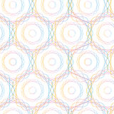 Sömlös modell för abstrakta cirklar för sexhörning geometriska, Arkivbilder