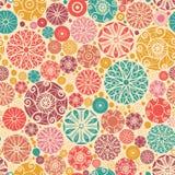 Sömlös modell för abstrakta dekorativa cirklar Royaltyfri Bild
