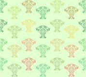Sömlös modell för abstrakta träd. Royaltyfria Bilder