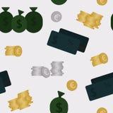 Sömlös modell för affär och för finans Bakgrund Royaltyfria Bilder