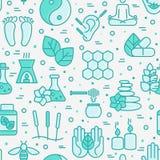 Sömlös modell för alternativ medicin royaltyfri illustrationer