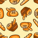 Sömlös modell för bageri vektor illustrationer