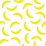 Sömlös modell för banan för design Organisk mat royaltyfri illustrationer