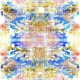 Sömlös modell för bandfärg Hand dragit shiboritryck Arkivbilder
