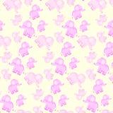 Sömlös modell för barn` s med rosa elefanter royaltyfri bild