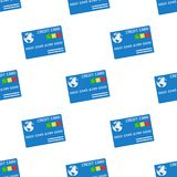 Sömlös modell för blå kreditkortsymbol Arkivfoton