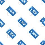 Sömlös modell för blå ny etikettslägenhetsymbol Fotografering för Bildbyråer