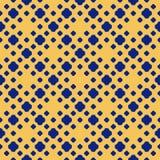 Sömlös modell för blå och gul prick Abstrakt geometrisk textur f?r vektor vektor illustrationer