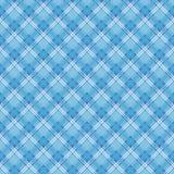 Sömlös modell för blå och vit pläd royaltyfri illustrationer