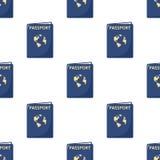 Sömlös modell för blå passlägenhetsymbol Royaltyfria Foton