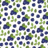 Sömlös modell för blåbär Royaltyfri Fotografi
