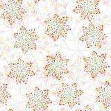 Sömlös modell för blom- snöflinga stock illustrationer