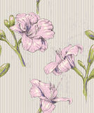 Sömlös modell för blom- tappning Royaltyfria Foton