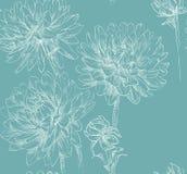 Sömlös modell för blom- tappning Royaltyfria Bilder