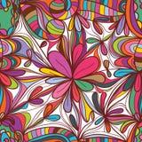 Sömlös modell för blommateckningsfyrkant royaltyfri illustrationer